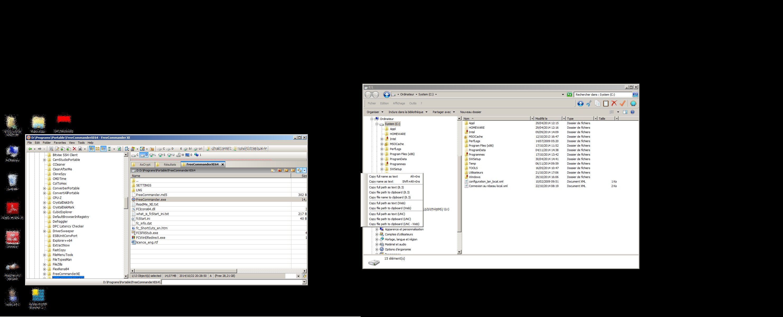 Dual monitor problem with copy address menu  - FreeCommander